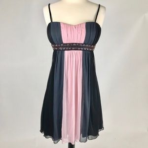 Short Empire Cocktail Dress Black Pink Grey NWOT
